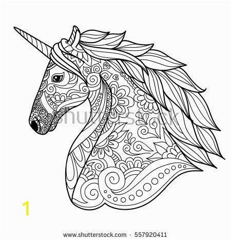 Do Not Disturb Sign Coloring Pages Drawing Unicorn Zentangle Style for Coloring Book Tattoo