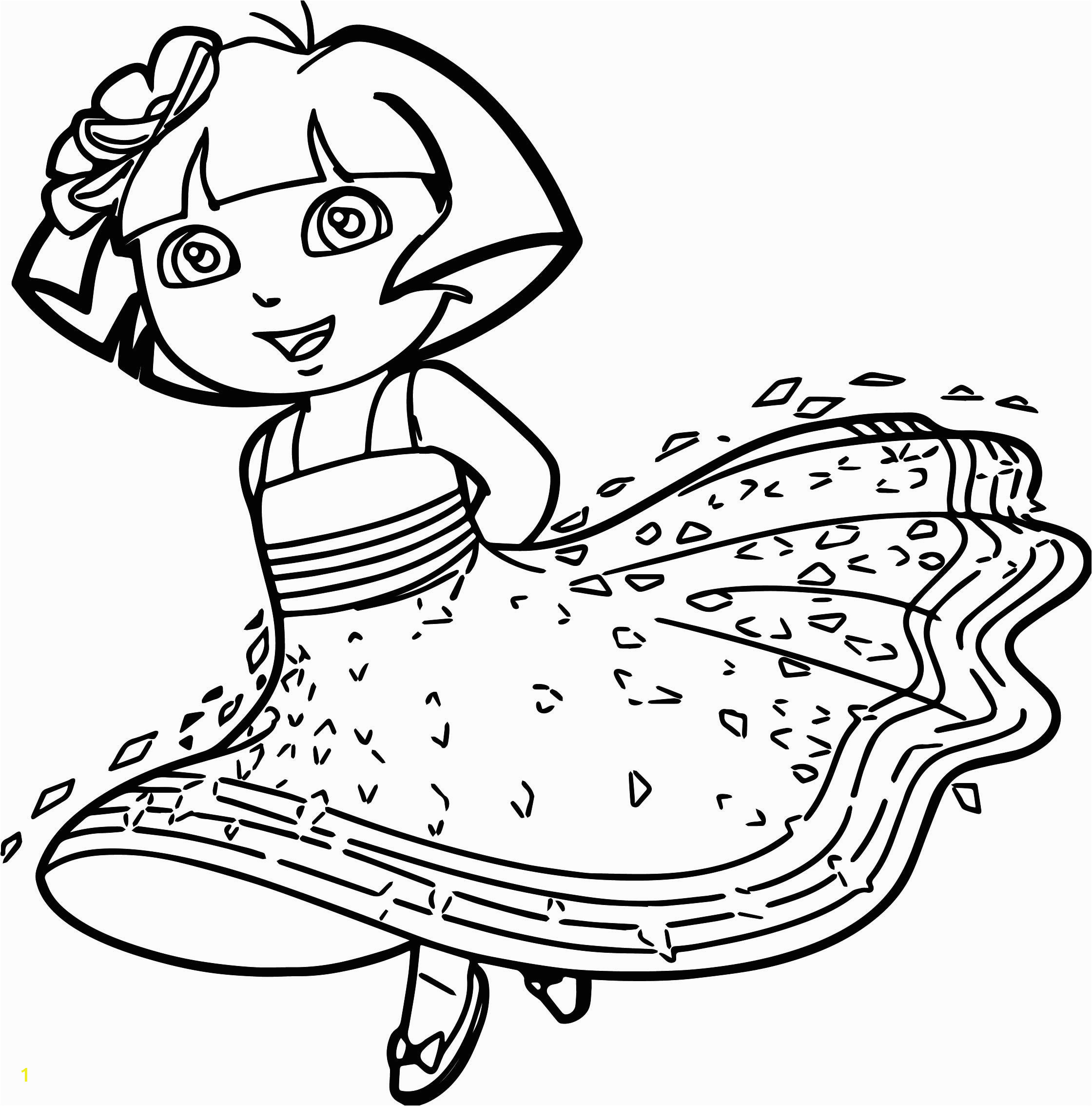 Dora Coloring Pages Halloween | divyajanani.org