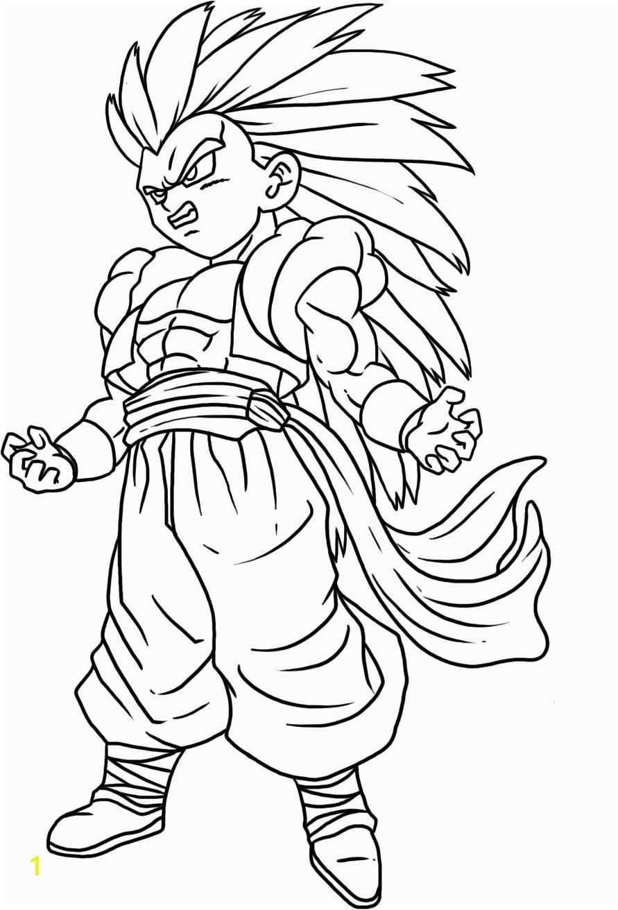 Super Saiyan 3 Gotenks Dragon Ball Z Coloring Pages