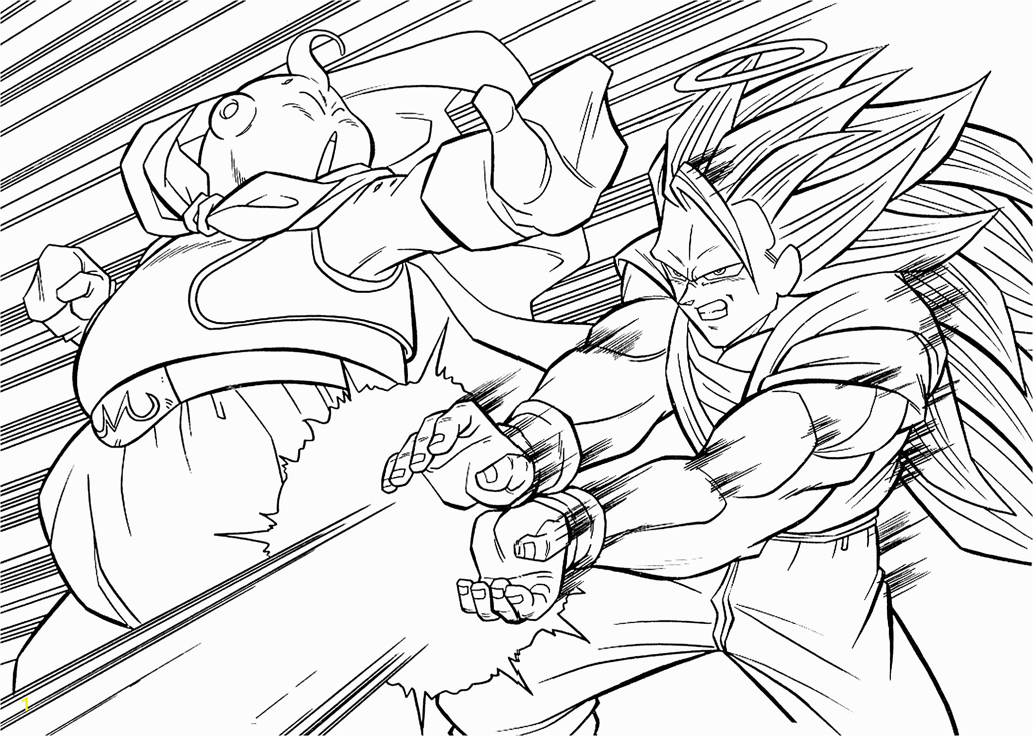 Free Dragonball Z Coloring Pages