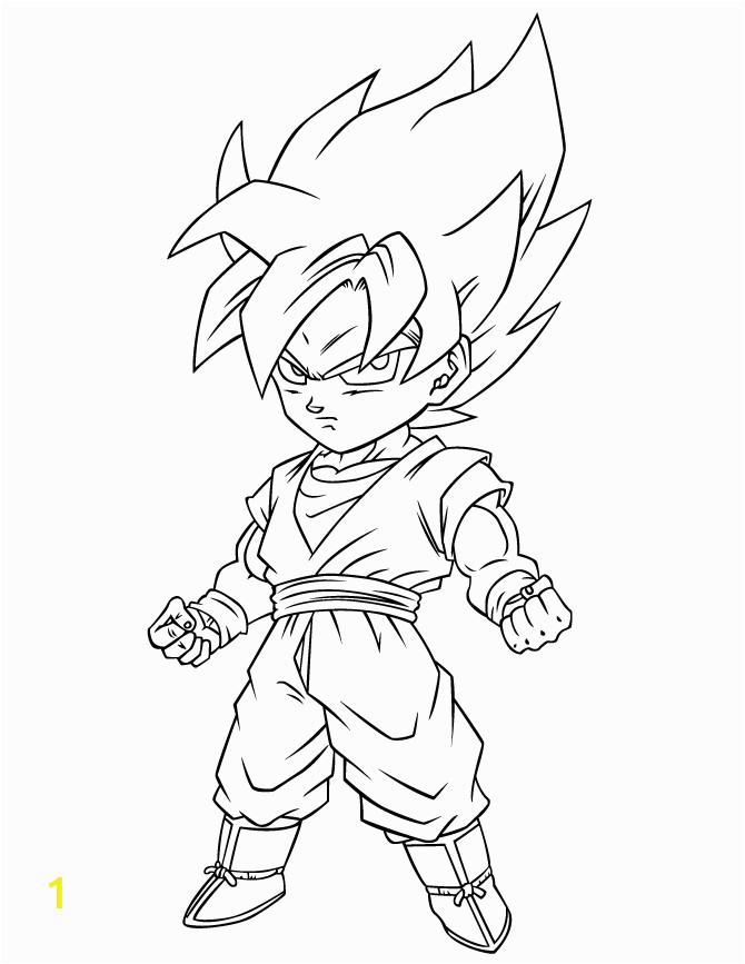 Super Saiyan Goten Dragon Ball Z Coloring Pages