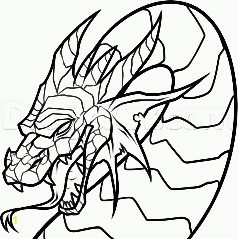 dragon head coloring pages printable