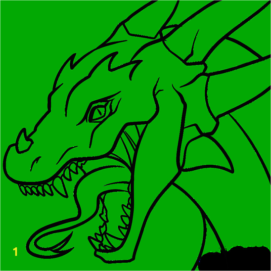 printable dragon head coloring pages