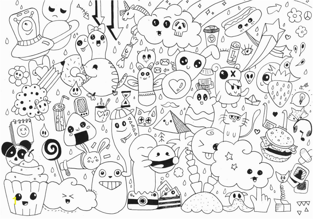 coloring pages ideas top exemplary free food photo bookle cute draw so kawaii for adults