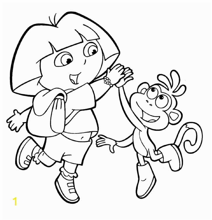 Easter Dora Coloring Pages Free Printable Dora the Explorer Coloring Pages for Kids