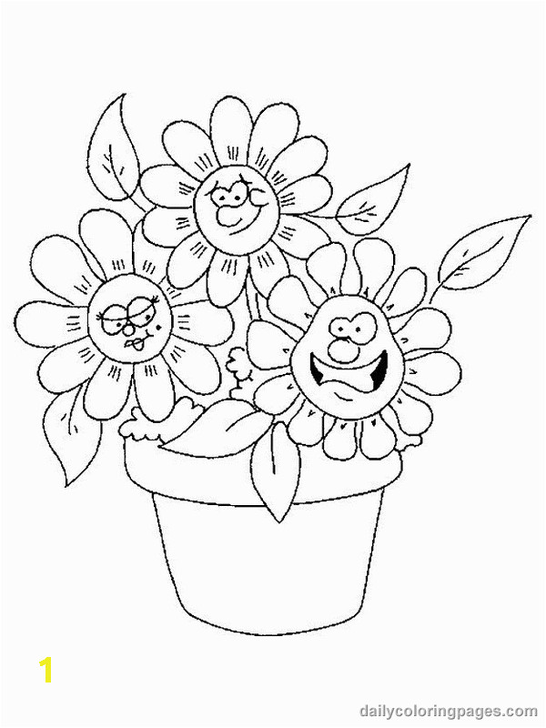 Easy Flower Coloring Pages Flower Coloring Pages