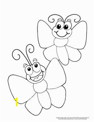 Easy Preschool Coloring Pages butterfly Coloring Pages Free Printable From Cute to