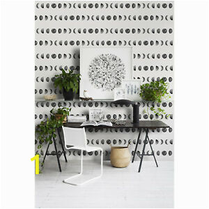 Ebay Wall Murals Wallpaper Details About Moon Phases Non Woven Wallpaper Geometric Wall Mural Simple Home Traditional