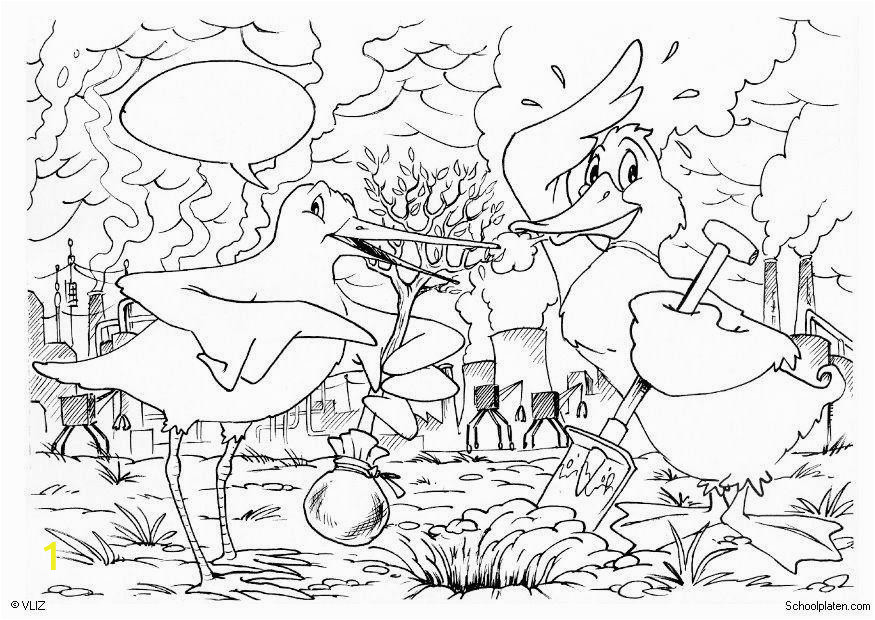 coloring page planting trees dl5506
