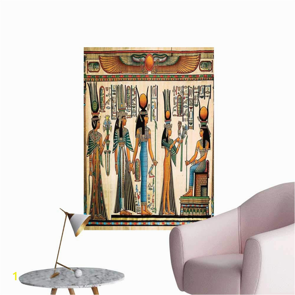 Egyptian themed Wall Murals Amazon Brandosn Egyptian Stickers Wall Murals Decals