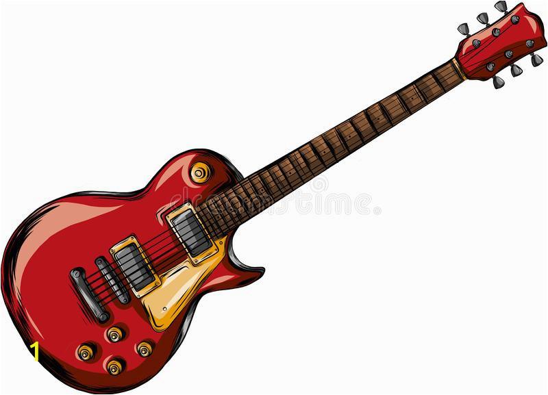 electric guitar flat vector illustration rock music instrument electric guitar flat vector illustration instrument