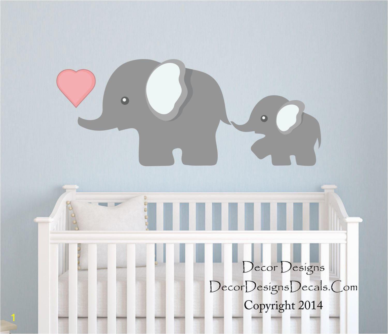 Elephant Wall Mural Nursery Elephant Wall Decal by Decor Designs Decals Nursery Wall