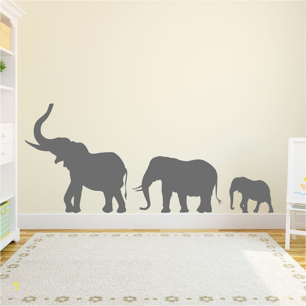 Elephants On the Wall Murals Marching Elephants Wall Decal