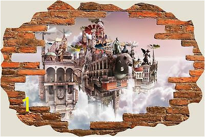 3D Hole in Wall Enchanted Fairytale City Wall