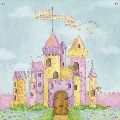 children s wall mural fairy castle 13