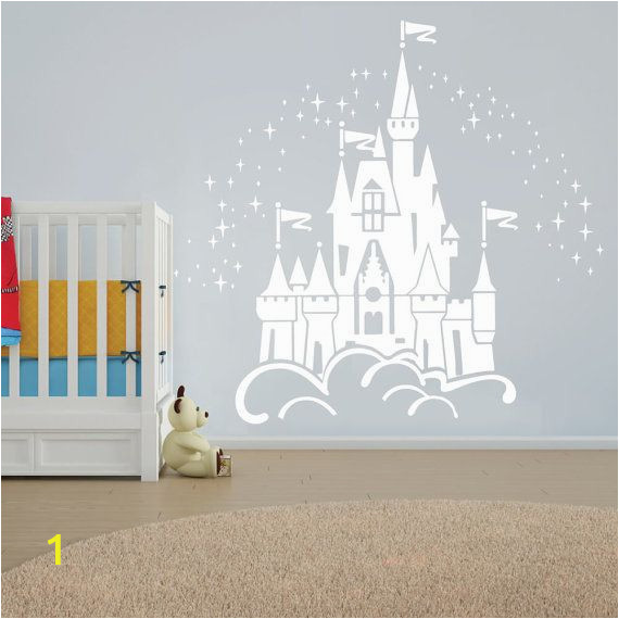 Fairy Castle Wall Mural Floating Disney Fairy Castle Wall Sticker Vinyl Decal Wall