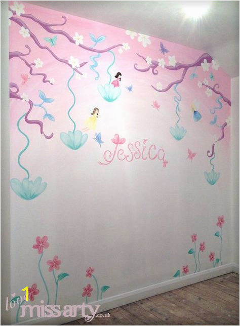Fairy Wall Murals Uk Fairy and butterfly Wall Mural Designed Hand Painted for