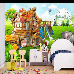 Fairy Wall Murals Uk Home Decor Custom Large Mural 3d Wallpaper Fairy Tale World Cartoon Carriage Animal Child Bedroom Mural Tv Back Wall Decor Deep 5d Embossed