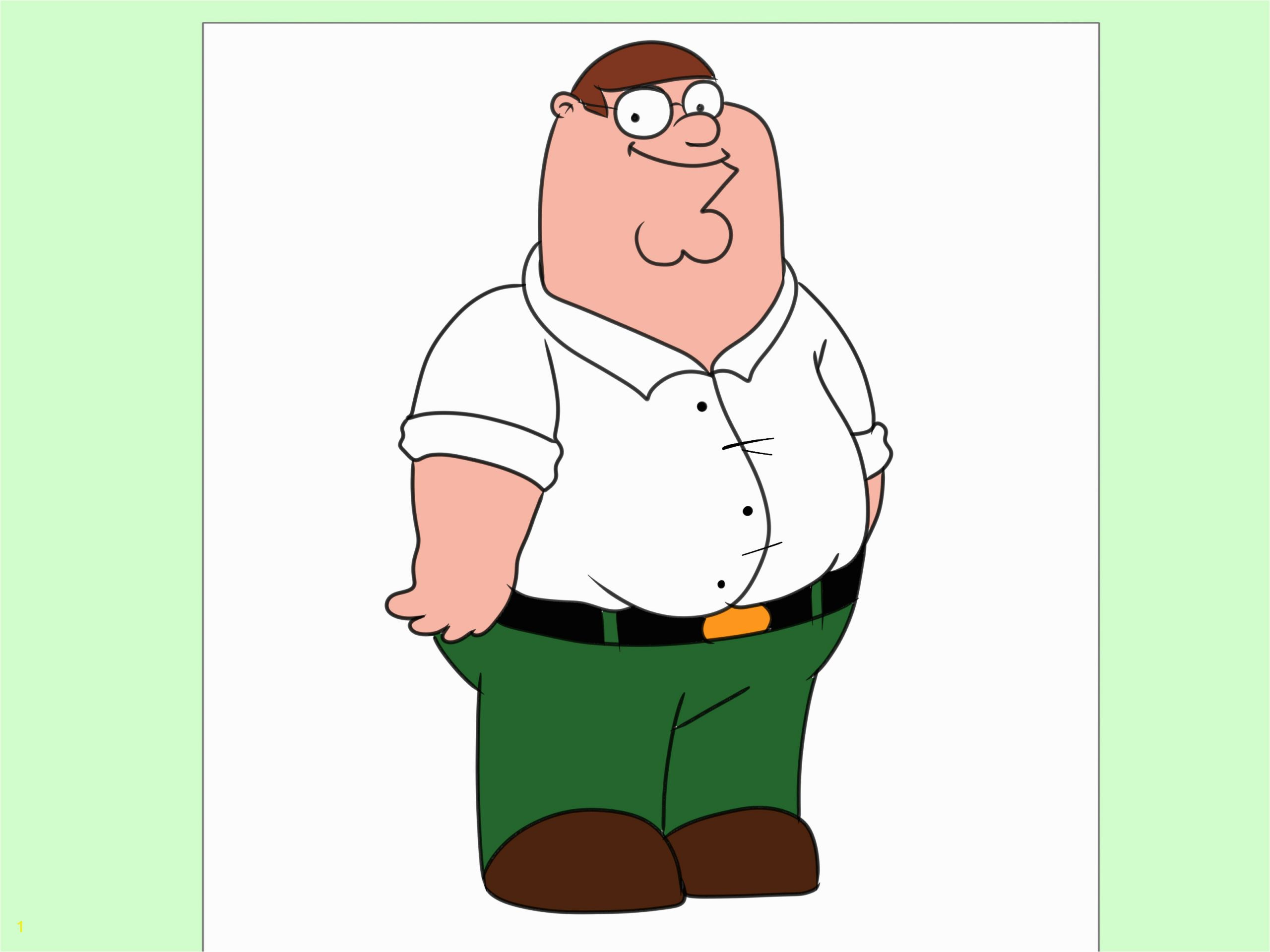 Draw Peter from Family Guy Step 7
