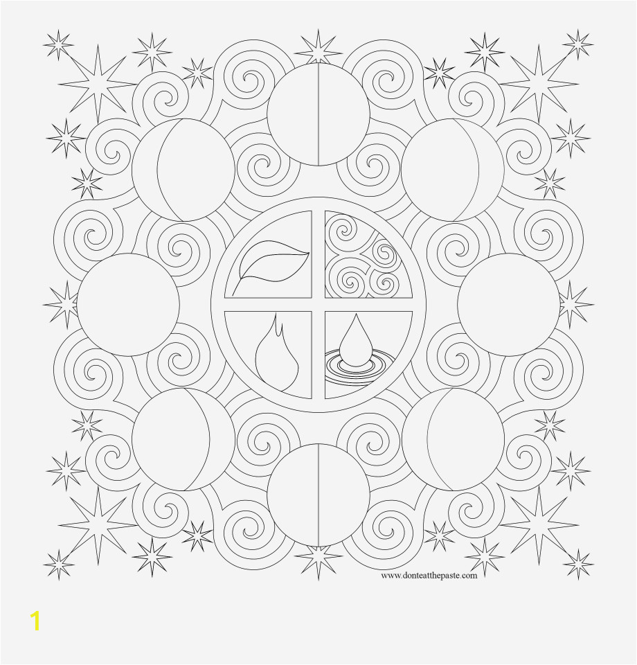 256 phases of the moon coloring pages for kids
