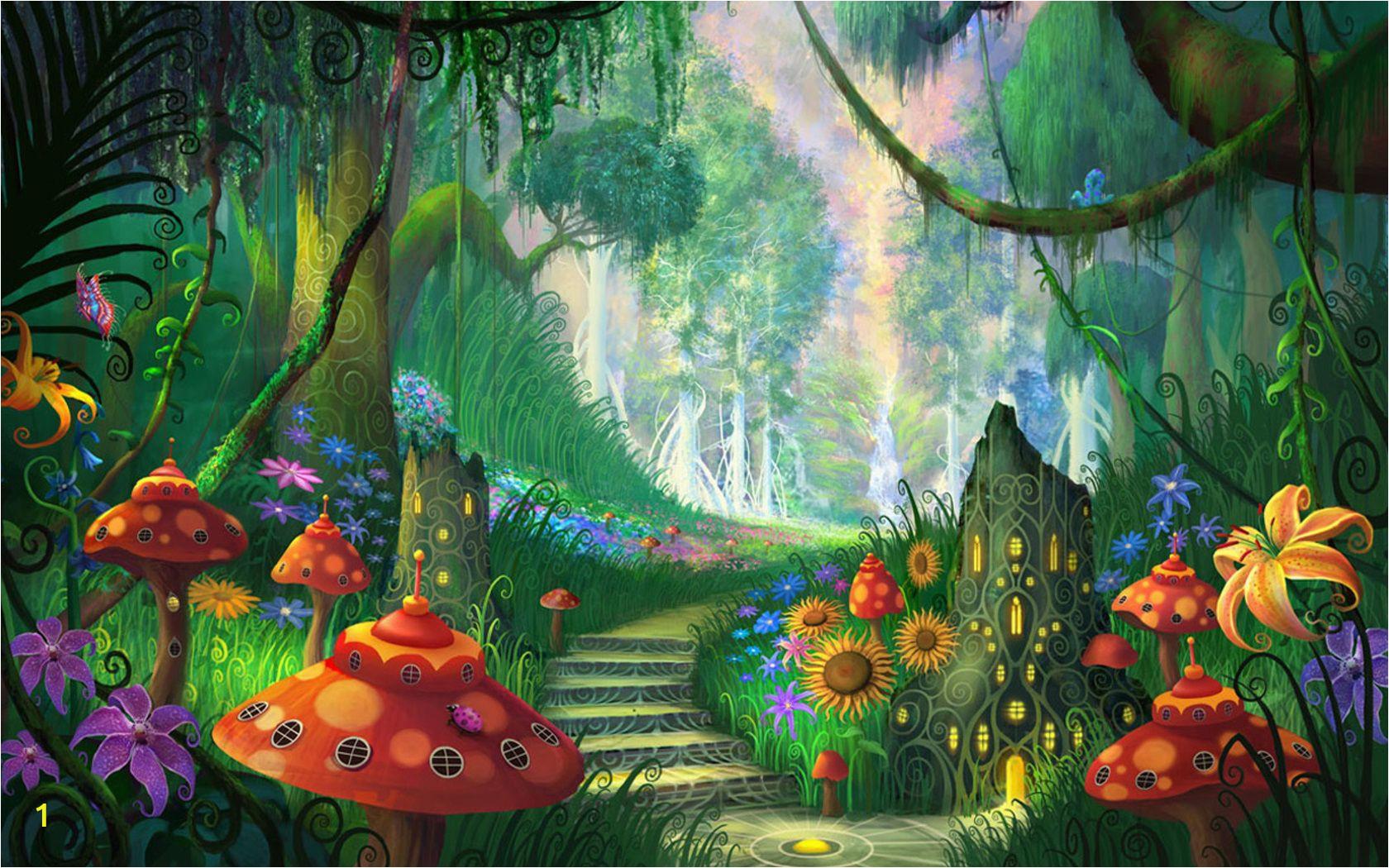 Fantasy forest Wall Mural Pin by Dorota Zając On Plakaty
