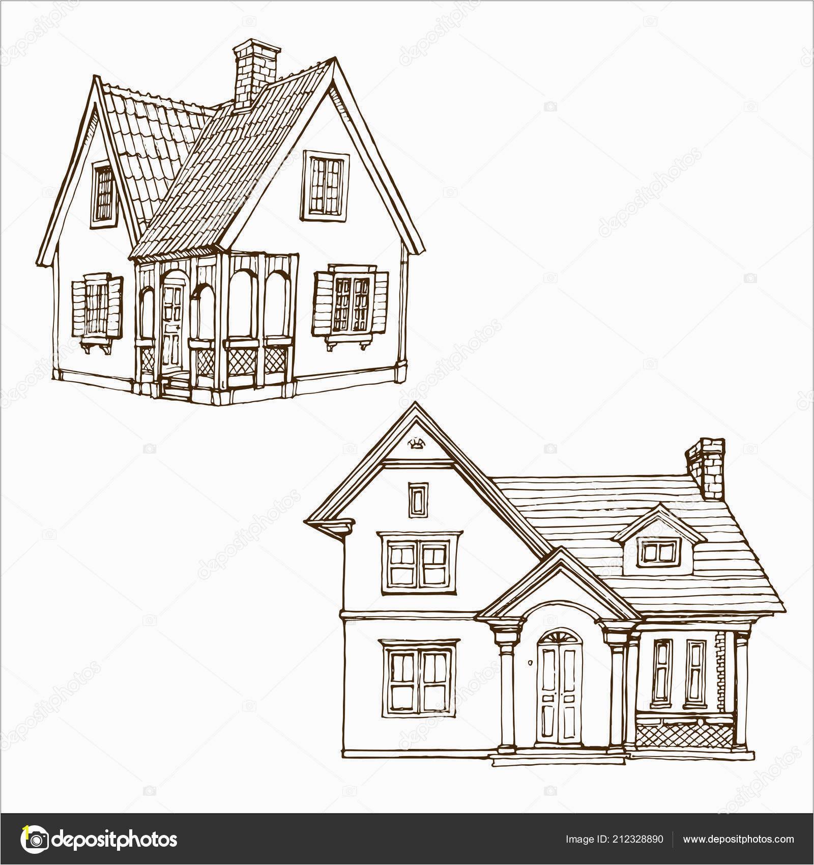 depositphotos stock illustration victorian cute little houses set