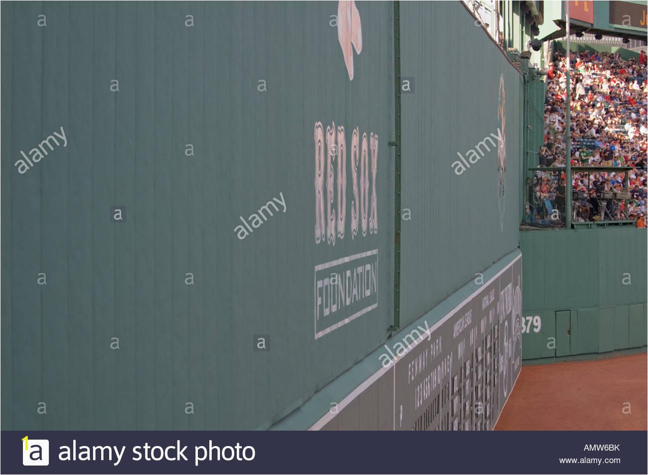 green monster linke feld wand im fenway park in boston ma amw6bk
