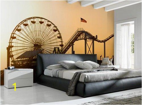 Ferris Wheel Wall Mural Santa Monica Pier Wall Mural