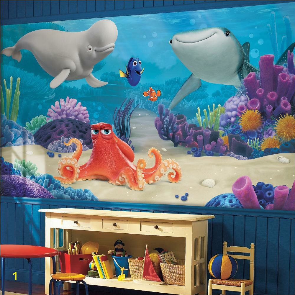 Finding Dory Wall Mural Giant Wall Mural Wallpaper Disney Baby Room Finding Dory