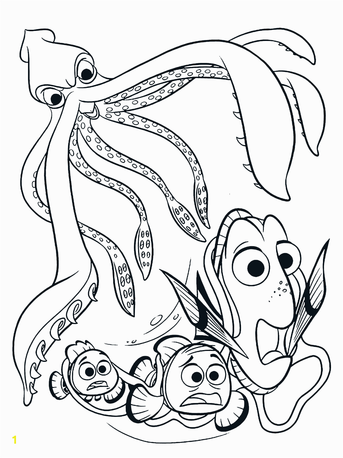 finding dory coloring page marlin and nemo are tremendous pages