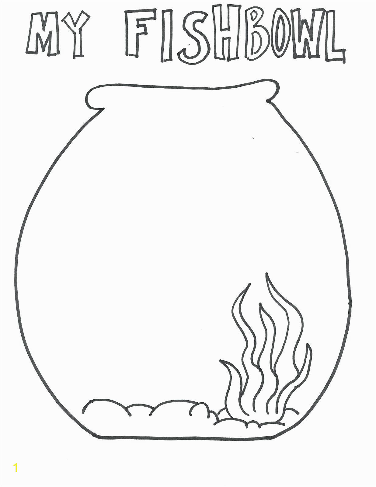 coloring page aquarium fish tank printable empty valentine large pages