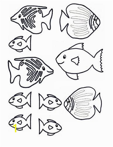 Fish Tank Coloring Page Fish Printable for Mural