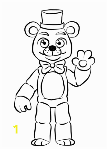 golden freddy coloring page