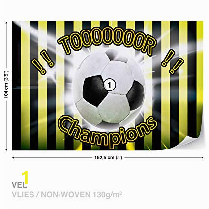 Football Wall Mural Wallpaper Football Yellow Black Wall Mural Wallpaper Room Décor