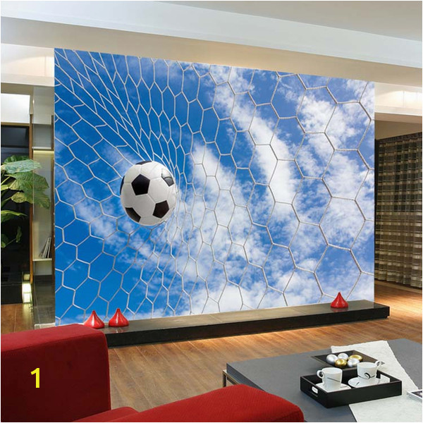 Football Wall Mural Wallpaper wholesale 3d Mural Football Wallpaper Murals sofa Background soccer Wall Paper Mural Wallcoverings Papel De Parede Wallpaper Designs Wallpaper