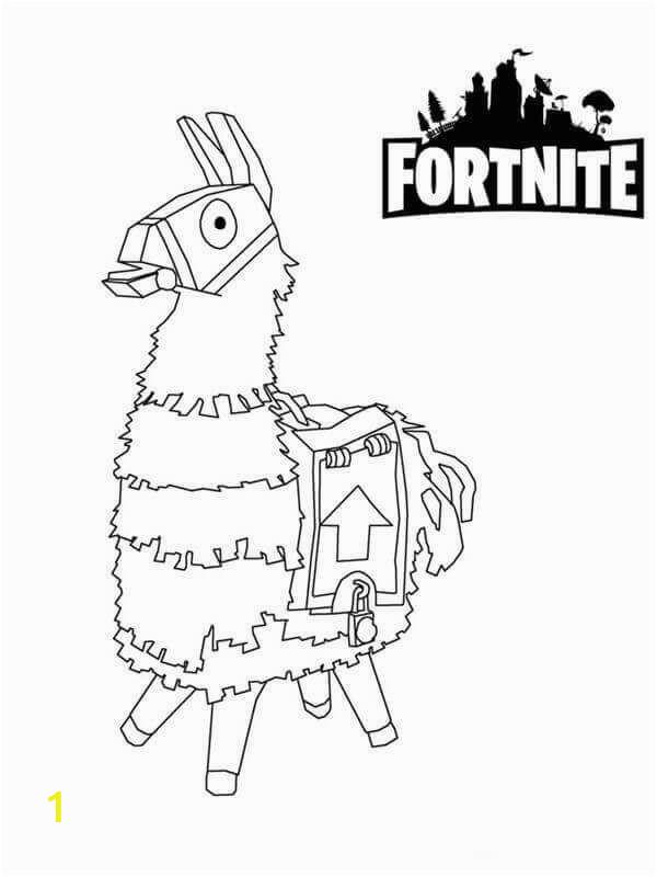 Fortnite Coloring Pages Llama fortnite Coloring Sheets Llama Walgraphics fortnite