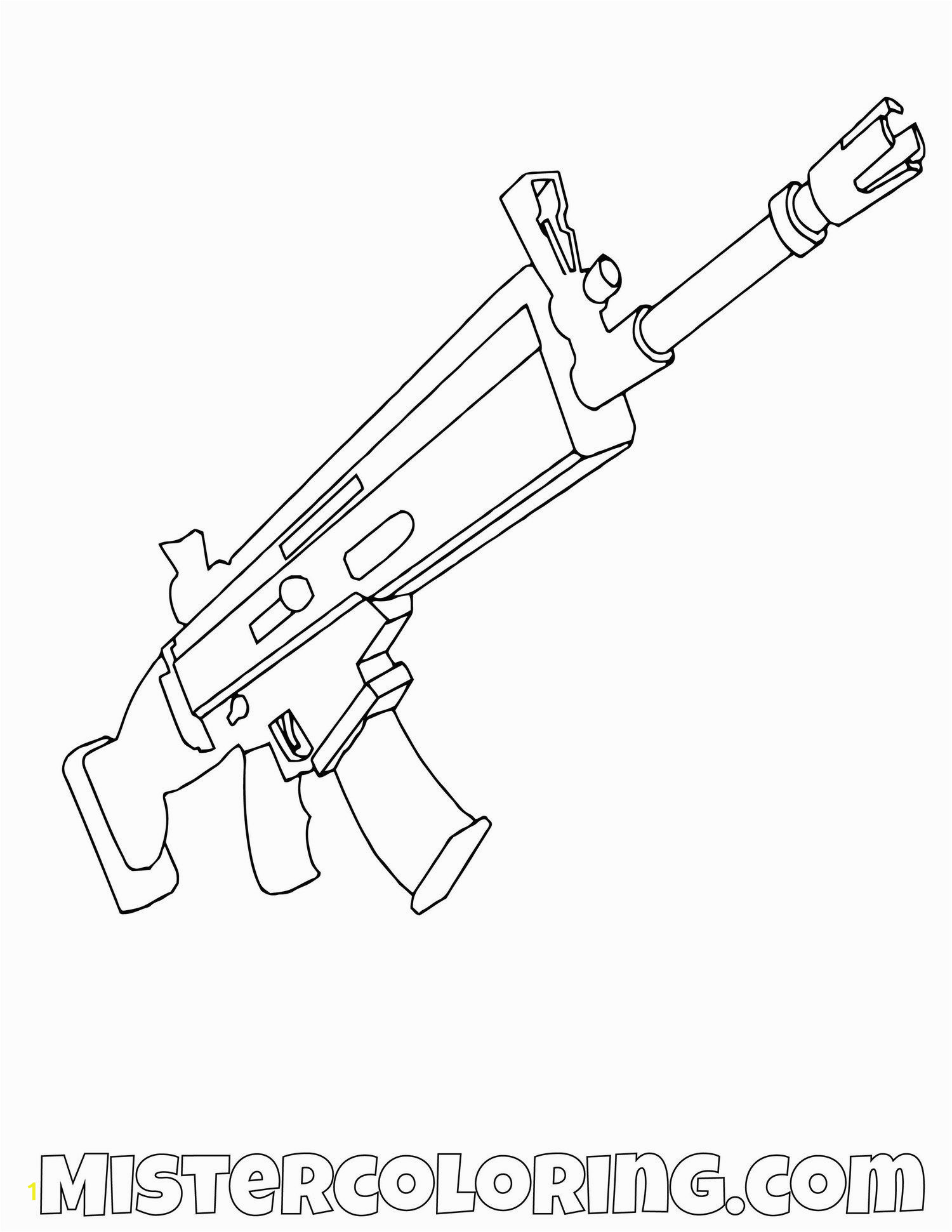 Fortnite Scar Coloring Page Scar fortnite Coloring Page