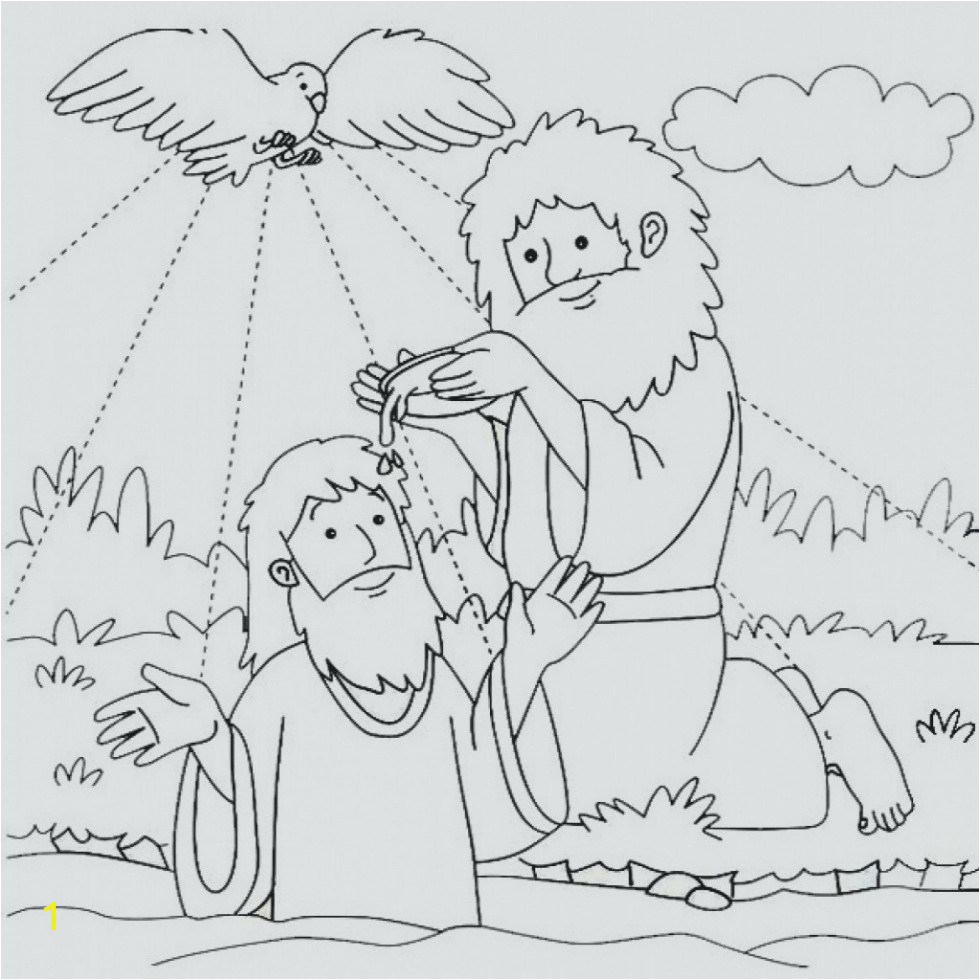 Free Coloring Pages Of Jesus Being Baptized Coloring Page for Kids Staggering Jesus Baptism Coloring