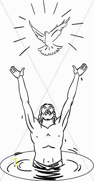 baptism of christ clipart 1
