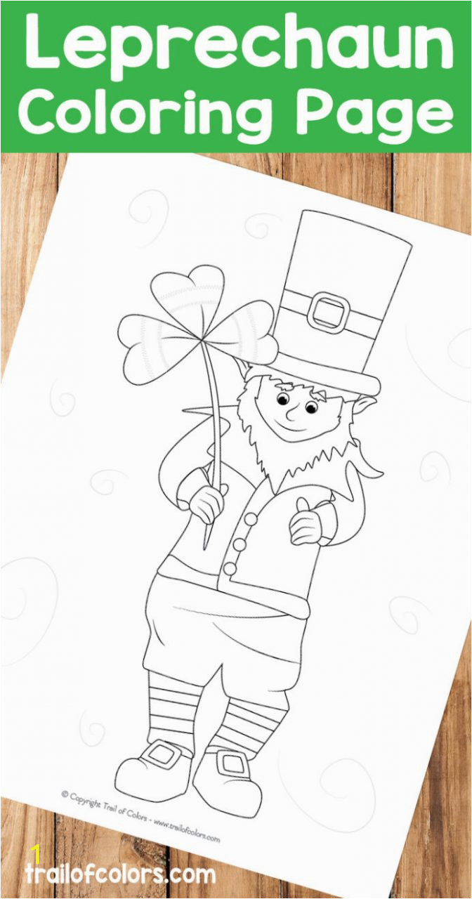 adorable leprechaunring page st patrick day patricks pages trail ofrs kolaz 692x1318 for patrick039s 672x1280