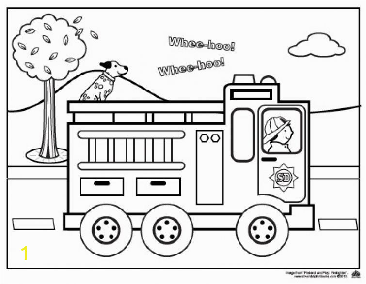 Free Fire Truck Coloring Pages Fire Truck Coloring Page for Preschoolers