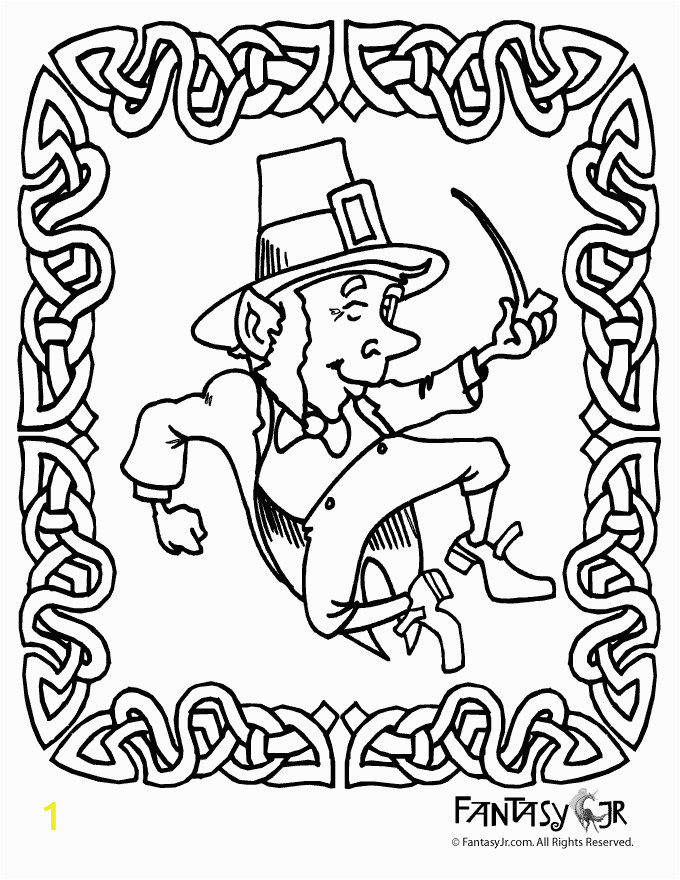 Free Leprechaun Coloring Pages Print Pin On St Patrick S Day