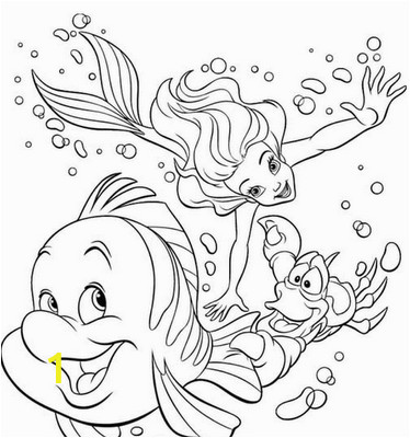 free little mermaid coloring pages  divyajanani