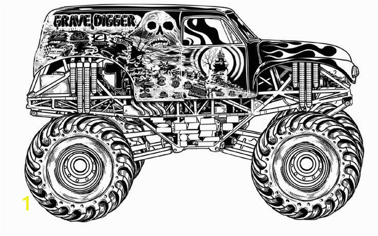 Free Monster Truck Coloring Pages Grave Digger Coloring Pages Grave Digger Coloring Pages