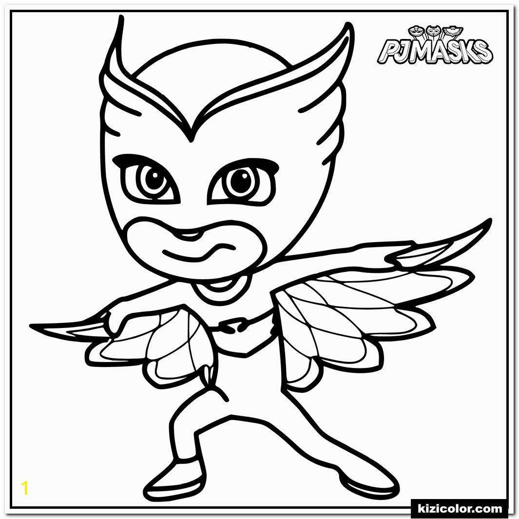 Colour in Owlette from PJ Masks