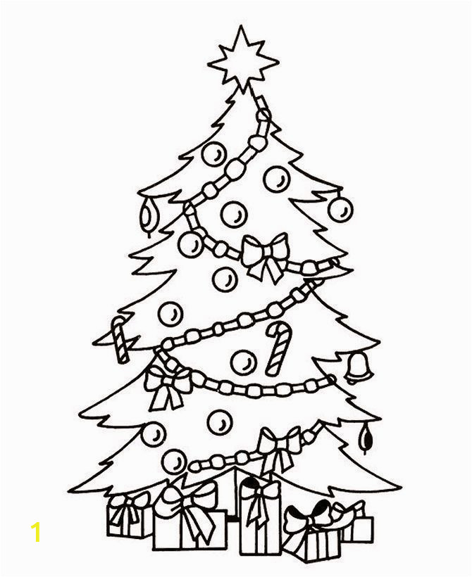 Free Printable Christmas Tree Coloring Page top 35 Free Printable Christmas Tree Coloring Pages Line