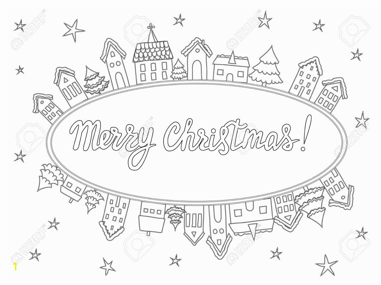 template for coloring pages christmas cards invitations backgrounds in black and white with handwrit