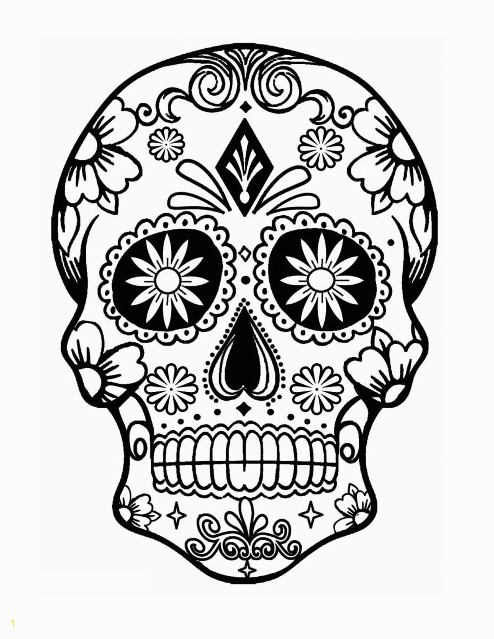 printable sugar skull coloring pages incredible female book design day of the free pictures page scaled