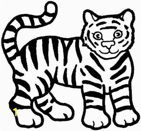 Free Tiger Coloring Pages Nice Tiger Pictures to Colouring Pages