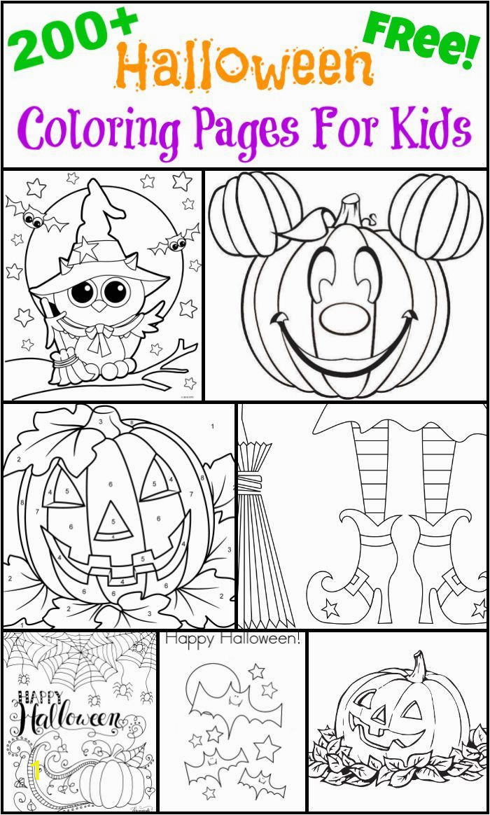 Free toddler Halloween Coloring Pages 200 Free Halloween Coloring Pages for Kids